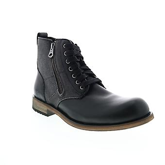 Andrew Marc Forest  Mens Black Leather Casual Dress Boots