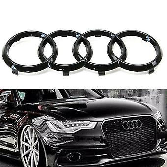 Gloss Black Rings Front Grill Bonnet Badge Emblem Grill Badge Emblem A3 S3 RS3 A4 A5 A6 S 275x95mm