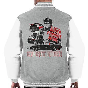 Knight Rider All Right Pal Super Pursuit Mode Men's Varsity Jacket