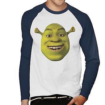 Shrek Smilende Mænd's Baseball langærmet T-shirt