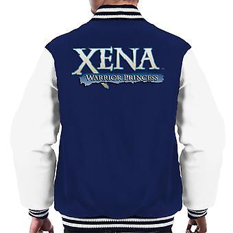 Xena Warrior Princess Blå Logo Män's Varsity Jacket