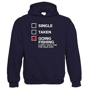 Going Fishing Mens Funny Hoodie, Carp Sea Fly Angler Birthday Gift for Dad Him