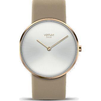 VOTUM - Ladies watch - CIRCLE - Pure - V01.20.10.04 - Leather strap - beige
