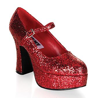 Funtasma Apparel & Accessories > Costumes & Accessories > Costume Shoes > Womens MARYJANE-50G Red Gltr