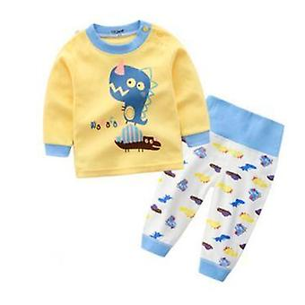 Cartoon pijamale imprimate și Pullover-nightwear Set