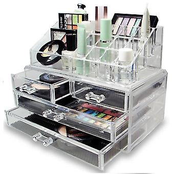 LaRoc Clear Cosmetic Organiser with Drawers