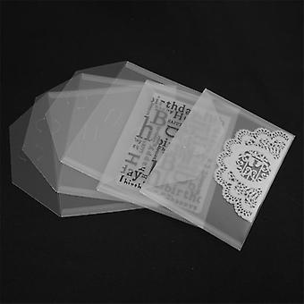 10pcs/set  18x13cm Folder Bag For Storage Cutting Dies Hot Foil Plates Clear
