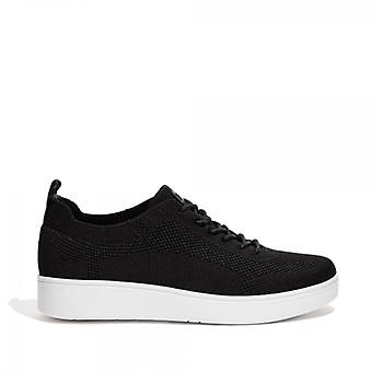 FitFlop Rally Tonal Knit Ladies Trainers Black