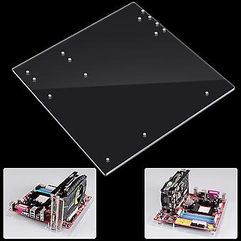 Open Frame, Transparent Acrylic Overlock Computer Case, Base Stand For Itx Atx