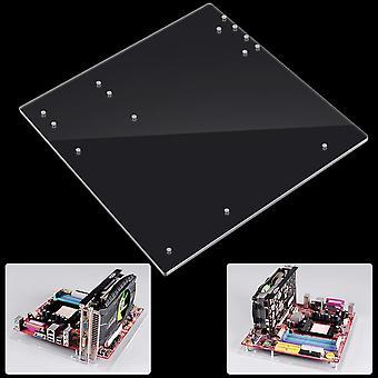 オープンフレーム、透明アクリルオーバーロックコンピュータケース、ベーススタンド用Itx Atx