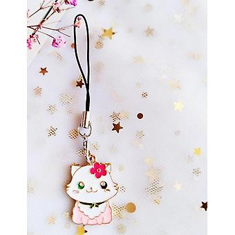Lanyards de alça de telefone inteligente de gato japonês