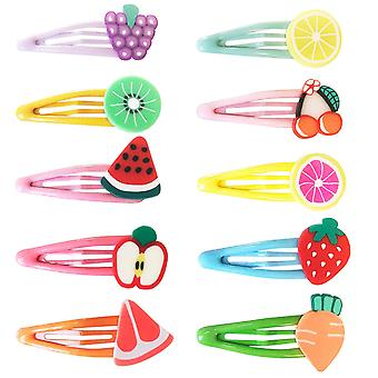 10x Hair clips, Fruits - No. 4
