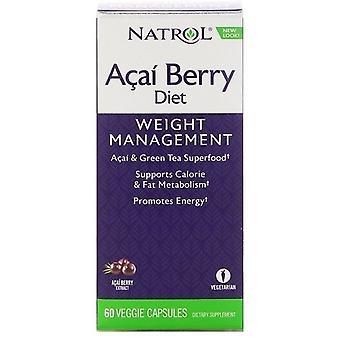 Natrol AcaiBerry Diet  Veggie 60 Capsulas