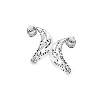 Sterling Silver Hoop Earrings - Origins Textured + Multi Waves
