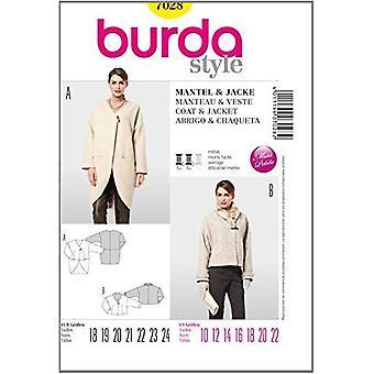 Burda Sewing Pattern 7028 - Misses Coat & Jacket Sizes: 10-22