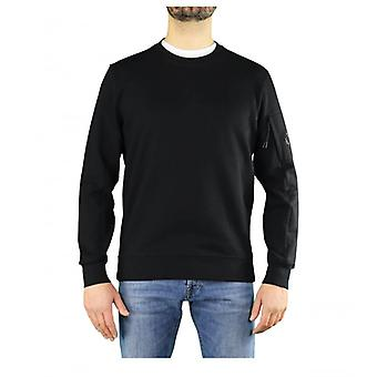 C.p. Company Diagonal Raised Fleece Black Sweatshirt