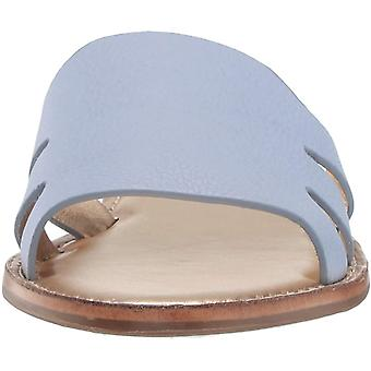 MARC JOSEPH NEW YORK Womens Leather Made in Brazil Slide Sandal, Sky Blue Grainy, 8 M US