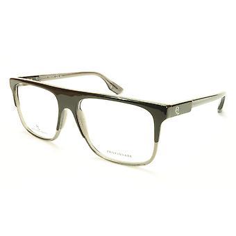 Alexander McQueen Eyeglasses Frame MCQ 0051 G0X Black Grey Acetate Italy 55-16-1