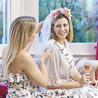 Floral Bride to Be Veil | Hen Party Head Piece Bridal Shower Accessory