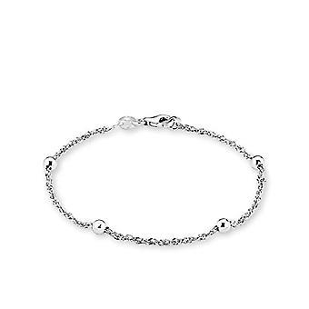 älskar kvinnors armband 19 cm med små silverbollar 925 rodium
