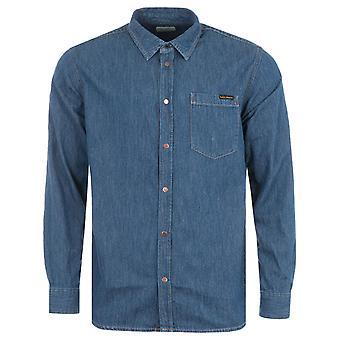 Nudie Jeans Co Albert Denim Shirt - Mid Worn Blue