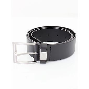BOSS Business Connio Leather Belt - Black