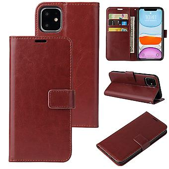Flip folio leather case for samsung a51 4g brown pns-3262