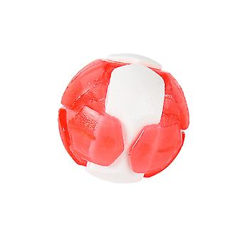 Pet Dog Toy Built-in Bell Elastic Soft Rubber Bite Resistant Pet Throwing Colorful Training Interactive Toy Ball