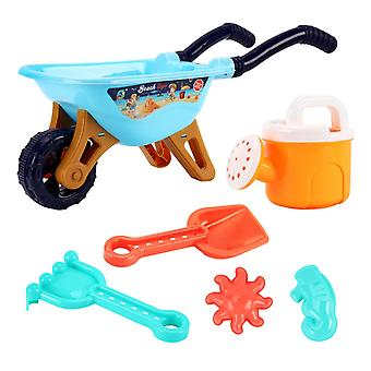 Conjunto de areia de brinquedo de praia, balde, carrinho, jogo de areia de pá, ferramentas de praia sandpit,