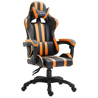 vidaXL Gaming Chair Orange Finux Leather