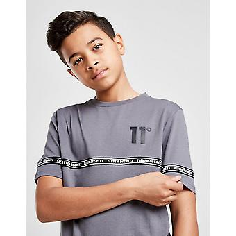 New 11 Degrees Tape T-Shirt Junior from JD Outlet Grey