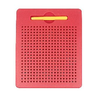 S red plastic steel ball magnetic drawing board children's toy az5180