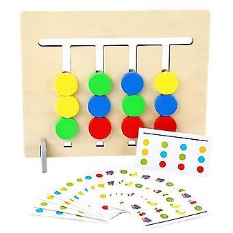 للأطفال مونتيسوري المنطق لعبة اللون المعرفي اللعب مزدوجة من جانب مزدوج الاستخدام خشبي | الرياضيات ألعاب WS25708