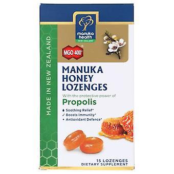 Manuka Health Honey & Propolis Lozenges, 15 Count