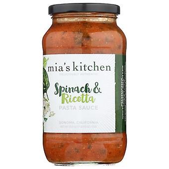 Mias Køkken Sauce Spinat Ricotta, sag af 6 X 25,5 Oz