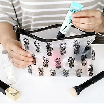 جديد ماكياج قفل الرمز البريدي حقيبة تخزين قلم رصاص حالة PVC أكياس مستحضرات التجميل للماء sm41886