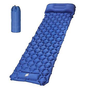 Aufblasbare Camping-Isomatte leichte Luftmatratze mit Kissen für Rucksackreisen (tief