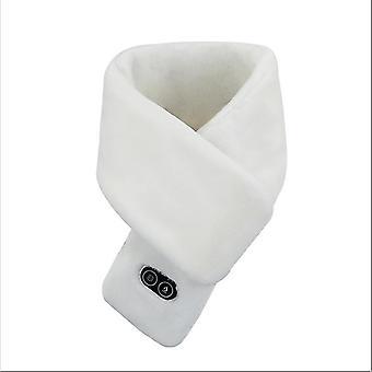 Gorączka podgrzewanie masaż szalik mężczyzn i kobiet zima nowe ciepłe ładowanie USB (biały)