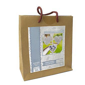 Embossed Metal Hanging Hearts Craft Kit - Bagged Gift