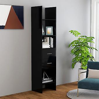 vidaXL bibliothèque de la bibliothèque noir 40x35x180 cm panneau de particules