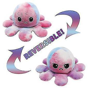 Schattige pluche dubbelzijdige octopus pop, uitdrukken uw stemming nauwkeurig (kleurrijk)