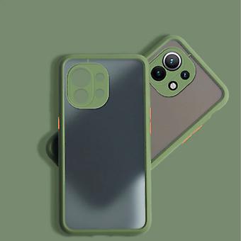 Balsam Xiaomi Mi 11 Lite Case with Frame Bumper - Case Cover Silicone TPU Anti-Shock Khaki