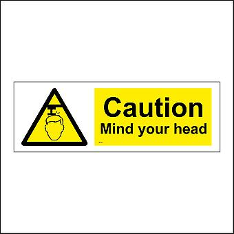 WS178 Caution Mind Your Head Sign with Triangle Head Pipe