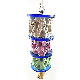 Parrot Bird Toys Chinchilla Squirrel Mineral Molar Toys Grinding Stone Toys Tree Root