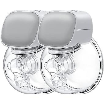 Portable Double Electric Wearable Breast Pump, Low Noise& Hands-free