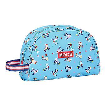 School Toilet Bag Moos Rollers Light Blue
