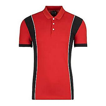 Men's Short Sleeve Polo Shirt Armani Jeans C1450 Red