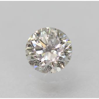 Zertifiziert 0,36 Karat F SI3 Rund Brillant Natürlich LosEr Diamant 4,52 mm EX CUT
