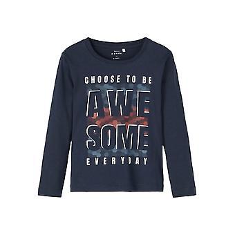 Navn-det Gutter Tshirt Victor Awesome Dark Sapphire