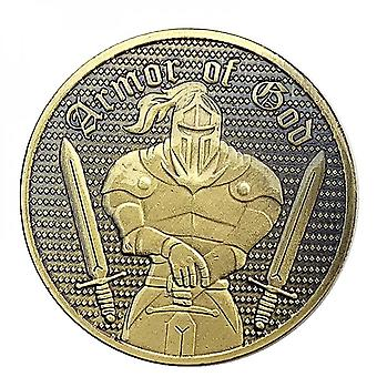 American Armor Knight Armor Warrior Copper-plated Comemoraive Coin Collection Coin Embossed Coin Medal